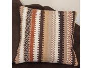 Abbott Beige Stripe Wood Pillow