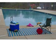 Homesuite Outdoor 5x8 Rug with Bonus 3x5 Runner Stripe