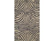 """Zebra Black 42"""" x 66"""" Indoor/Outdoor Rug"""