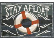 """Stay Afloat Water 30"""" x 48"""" Indoor/Outdoor Rug"""
