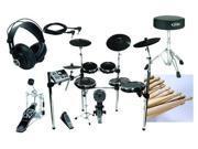 Alesis DM10-X Premium 6-piece Electronic Drum Set Pack with Tama Bass Drum Pedal