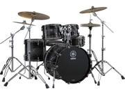 Yamaha Live Custom 4-Piece Drum Set (Black Shadow Sunburst)