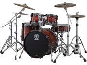 Yamaha Live Custom 4-Piece Drum Set (Amber Shadow Sunburst)