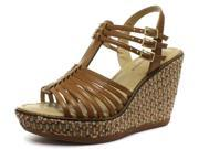 New Hush Puppies Cores Qtr Strap Tan Womens Wedge Sandals, Size 7