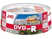 JVC DVD-R 4.7Gb Spindle 25 Printable discs recordable blank media