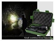 800 Meter 1000 Lumen Tactical Cree C8 Q5 LED 3-Mode Police Flashlight Torch Lamp with box and two chargers