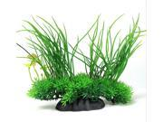 "8"" Green Artificial Aquarium Fish Tank Plastic Plant Water Grass Decor Ornament"