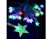 New 12V-240V 20LED 5M Christmas Wedding String Starfish Star Shape Net Fairy Curtain Light