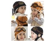 Wool Baby Toddler Pilot Style Cap with Ear Flaps