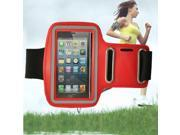 Premium Running Sports Gym Armband Case Cover For iPhone 5 5s Red Color