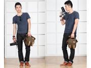 Caden Digital Camera Bag Waterproof Canvas Vintage Shoulder Bag for Nikon Sony Canon DSLR