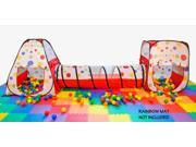eWonderWorld Polka Dot Play Zone (2 Tents and 1 Tunnel)- Free Mystery Gift with Purchase