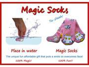 Magic Socks Fun For Adults & Children Pink Cow Design Expands In Water