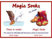 Magic Socks Fun For Adults & Children Rubber Duck Design Expands In Water