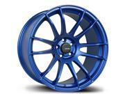 """(4) 17"""" Inch AVID.1 AV-20 Matte Blue 17x8 5x114.3 ET35 Wheels Rims"""