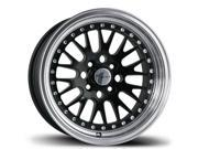 Avid1 AV-12 16x8 4x100/4x114.3 + 25 Gloss Black Wheels 240sx E30 BMW CIVIC DEL SOL MIATA