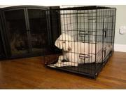 Iconic Pet - Foldable Double Door Pet Dog Cat Training Crate with Divider