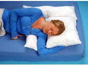 "Shoulder Rest Pillow With White Cover - L 19"" x H 2.5"" x W 25"""