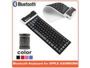 AIYZE Silicone keyboard Waterproof Washable Silent and Mute can Roll Up bluetooth keyboard Universal Support For Apple For Samsung System High Quality