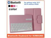 AIYZE For Samsung Galaxy Note 10.1  Leather Case With Removable Bluetooth Wireless ABS Keyboards Folding Keypad Support Samsung System For GALAXY Note 10.1 High Quality New Arrive! P600F Plastic-PINK