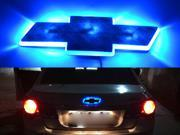 Brand New Fashionalble 2015 Newest Reliable Quality Car Tail 2D LED Light Logo Auto Emblems Badges Decoration For CHEVROLET CRUZE Color Blue