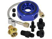 ACURA HONDA JDM VIP LS B20 VTEC OIL SUPPLY ADAPTER ALUMINUM LINE CONVERSION KIT VTEC HEAD TO LS / B20 BLOCK BLUE