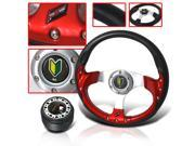 JDM SPORT ACURA INTEGRA STEERING WHEEL RACING STYLE WITH HUB ADAPTER