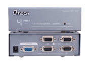 DTECH DT-7254 4-Port UXGA Monitor Splitter/Extender (Female Input)-- 250 MHz