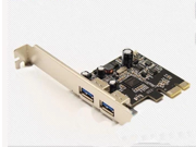 DTECH PC0149 SuperSpeed USB 3.0 2-Port PCI-E Add-On Expansion Card, USB 3.0 Controller Card Adapter 5Gbps