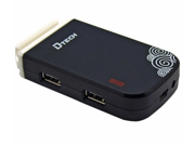 Dtech DT-3080 USB 2.0 4-Port Hub Support 2TB with Power Adapter (Black)