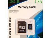 128GB Universal Micro SD HC Flash Memory Card With TF Free Adapter Class 10 FAST