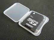 10 SD/SDHC/Memory Stick Pro Duo Card Plastic Storage Jewel Case/Holder Adapter