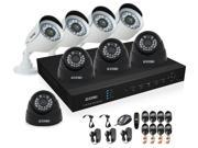 ZOSI 8CH H.264 HD DVR Recorder HDMI Output with 8x700TVL Color CMOS Indoor IR Cut Security Cameras CCTV Surveillance System