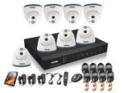 ZOSI 8CH Real-time D1 HDMI DVR 8pcs 960H 800TVL Camera 1PCS Array IR LED Night Vision Waterproof Surveillance System Kit with 500GB HDD