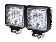 Tuff LED Lights Off Road Square LED Work Light - 4 Inch 27 Watt - Spot - 2 Pack