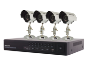 Seguard 8 CH H.264 4 Channels DVR with 4 CMOS cameras, 420 Lines.Surveilance cameras. HARD DRIVE NOT INCLUDED