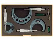 MITUTOYO 103929 Micrometer Set,03 In,0.001 In,3Pc