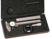 STARRETT S909MZ Basic Precision Measure Set, Metric, 3 Pc