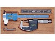MITUTOYO 64PKA073B Tool Kit, Micrometer, Caliper, Rule, 3 Pcs