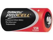 DURACELL PL123AM Battery, 123, Lithium, 3V, PK 400