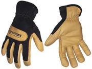 YOUNGSTOWN GLOVE CO. 123270803XL Mechanics Gloves,Leather,Tan/Blck,3XL,PR