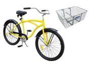 33X824 Industrial Bicycle, 26 In, Front Basket