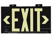 JESSUP MANUFACTURING 7001B Exit Sign, 8 x 15In, GRN/BK, Metal