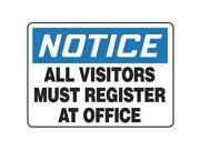 ACCUFORM SIGNS MADM893VA Notice Security Sign, 10 x 14In, AL, ENG