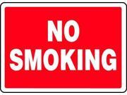 ACCUFORM SIGNS MSMK570VA No Smoking Sign,10 x 14In,WHT/R,AL,ENG
