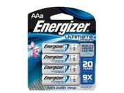 ENERGIZER L91BP8 Battery, AA, Lithium, PK 8