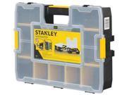 STANLEY STST14027 Adjustable Compartment Box, Plastic, Black