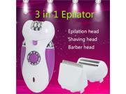 3 in 1 Rechargeable Lady Epilator Shaver Electric Razors Women Removal Hair Product bikini face leg trimmer clipper Purple