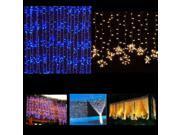 LED Curtain String Lights 300 LED Curtain Decoration Light String Fairy Wedding Christmas Xmas Party Light 3M*3M 110V