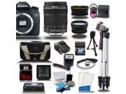 Canon EOS 70D DSLR Camera with 18-135mm STM + Telephoto + Wide-Angle 3 Lens Bundle Kit + 16GB + Reader + Extra Battery + Charger + Deluxe Bag + 2 Tripods + Filters + Cleaning Kit + More New